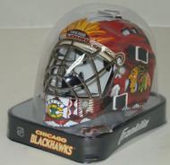 Chicago Blackhawks NHL Mini Hockey Goalie Mask