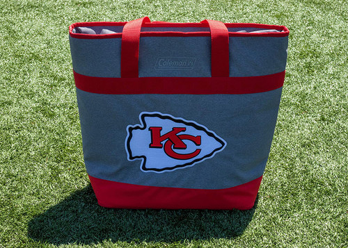 Kansas City Chiefs NFL Soft-Side Insulated Large Tote Cooler Bag, 30-Can Capacity