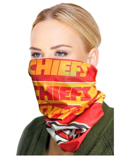 Kansas City Chiefs NFL Bandana Superdana Neck Gaiter Face Guard Mask