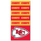Kansas City Chiefs NFL Bandana Superdana Neck Gaiter Face Guard Mask Full View