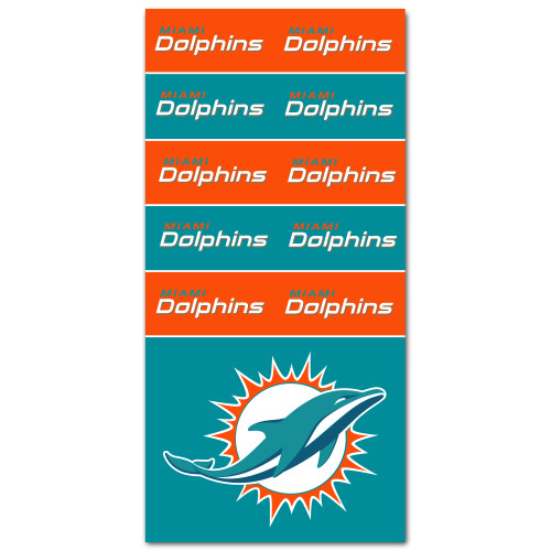Miami Dolphins NFL Bandana Superdana Neck Gaiter Face Guard Mask