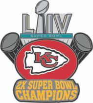 Kansas City Chiefs 2X Super Bowl Champions Franchise Dynasty Lapel Pin