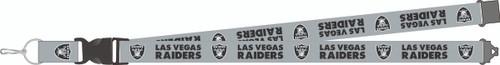 Las Vegas Raiders New Logo Gray Team Detachable Lanyard