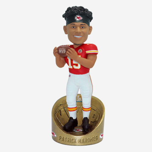 "Patrick Mahomes Kansas City Chiefs Super Bowl LIV Champions 10"" MVP Player Bobblehead Doll"