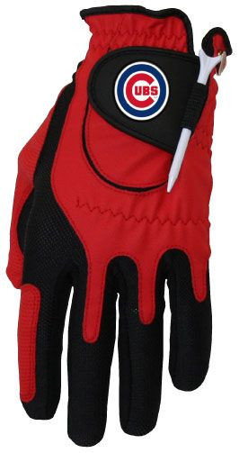 Zero Friction MLB Chicago Cubs Red Golf Glove, Left Hand