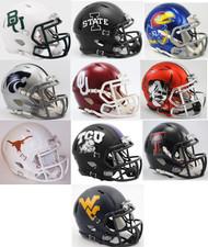 All 10 NCAA BIG 12 Twelve Conference Current Riddell SPEED Revolution Mini Football Helmets