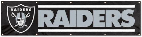 Las Vegas Raiders 8' x 2' Applique & Embroidered NFL Banner