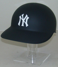 New York Yankees Matte Navy Blue No Ear Covered Full Size Baseball Batting Helmet