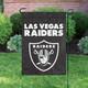 "Las Vegas Raiders NFL Premium Garden Flag 18"" x 12.5"" in Garden"