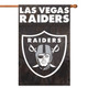 "Las Vegas Raiders Applique Banner Flag 44"" x 28"" with Las Vegas!"