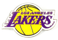 "Los Angeles Lakers NBA Jumbo Grande 2"" Lapel Pin"