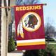 """Washington Redskins Applique Banner Flag 44"""" x 28"""" in Garden"""
