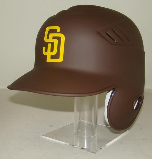 San Diego Padres Matte Brown Rawlings LEC Full Size Baseball Batting Helmet