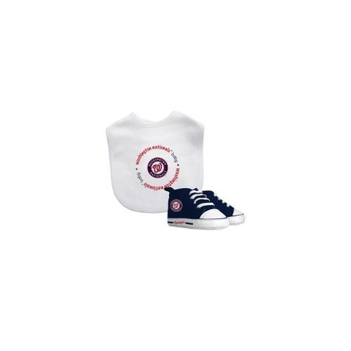 Baby Fanatic MLB Velcro-Closure Bib and High-Top Pre-Walker Set, Washington Nationals