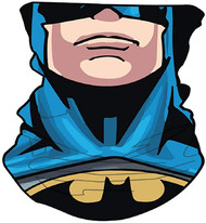DC Comics Batman Neck Gaiter Scarf Face Guard Mask Head Covering