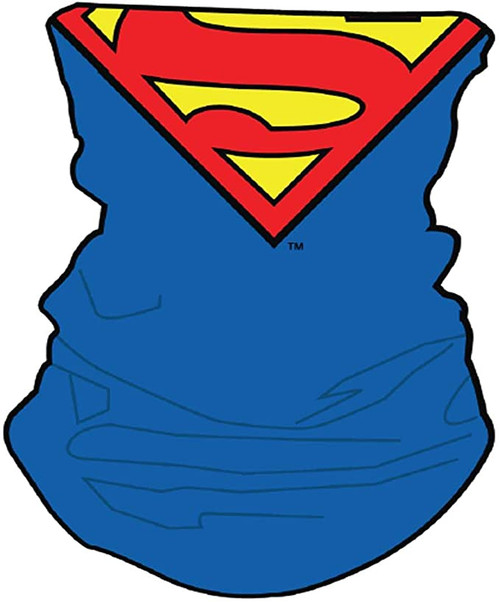 DC Comics Superman Neck Gaiter Scarf Face Guard Mask Head Covering