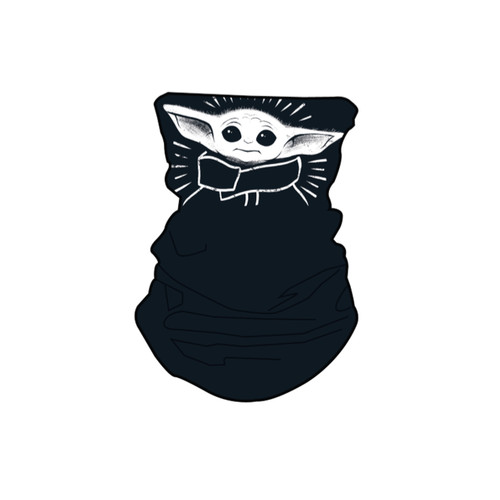 Disney Star Wars Baby Yoda Black Neck Gaiter Scarf Face Guard Mask Head Covering