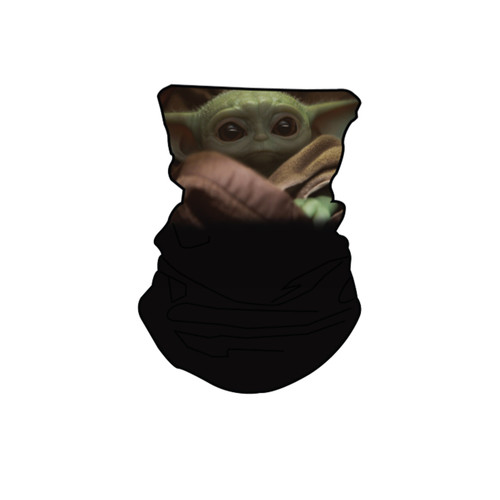 Star Wars Mandalorian Baby Yoda Black Neck Gaiter Scarf Face Guard Mask Head Covering