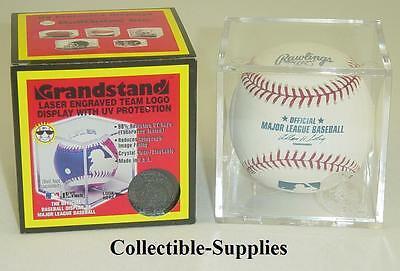 Atlanta Braves UV Protected Grandstand Baseball Cube Square Holder Case