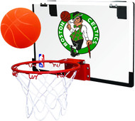 Boston Celtics NBA Game On Slam Jam Polycarbonate Mini Basketball Indoor Hoop Set