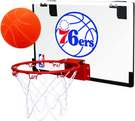 Philadelphia 76ers NBA Game On Slam Jam Polycarbonate Mini Basketball Indoor Hoop Set