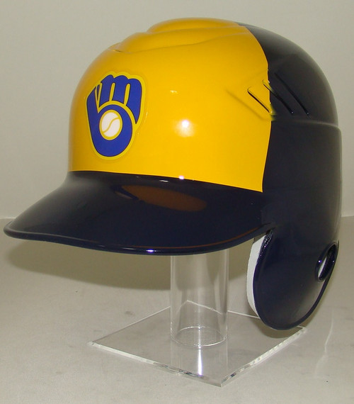 MILWAUKEE BREWERS New 2020 Mitt Logo Coolflo Style MLB Baseball Batting Helmet