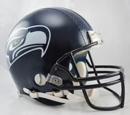 Seattle Seahawks Matte Navy Riddell Full Size Authentic Proline Helmet