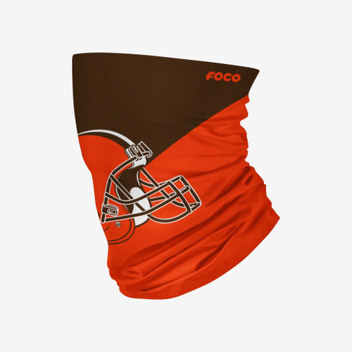 Cleveland Browns NFL Big Logo Neck Gaiter Scarf Face Guard Mask Head Covering