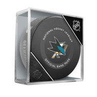 San Jose Sharks Inglasco Official NHL Hockey Game Puck in Cube
