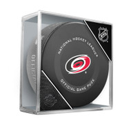Carolina Hurricanes Inglasco Official NHL Hockey Game Puck in Cube