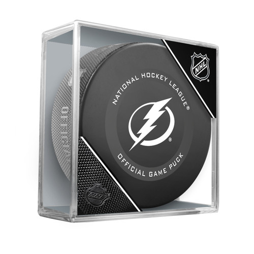 Tampa Bay Lightning Inglasco Official NHL Hockey Game Puck in Cube