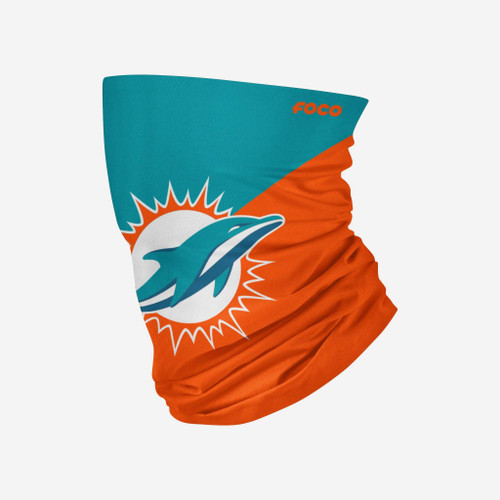 Miami Dolphins NFL Big Logo Neck Gaiter Scarf Face Guard Mask Head Covering