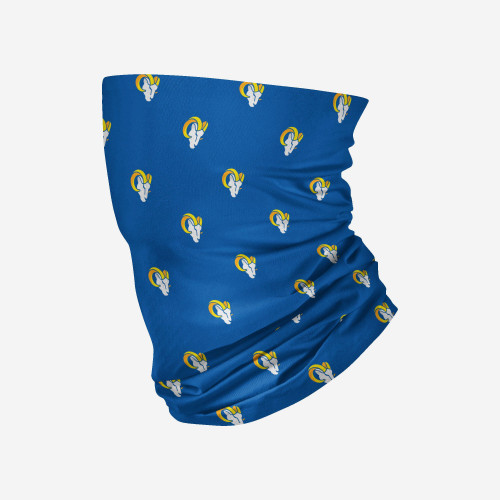 Los Angeles Rams NFL Mini Repeat Print Logo Neck Gaiter Scarf Face Guard Mask Head Covering