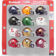 2020 NCAA PAC 12 Pocket Pro Speed Revolution Mini Helmets Set by Riddell