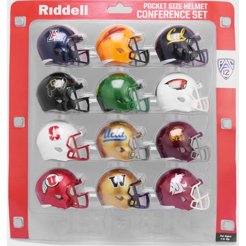 2020 NCAA PAC 12 Pocket Pro Speed Revolution Mini Helmets Set by Riddell
