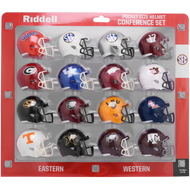 2020 NCAA SEC Conference Pocket Pro Speed Revolution Mini Helmets Set by Riddell