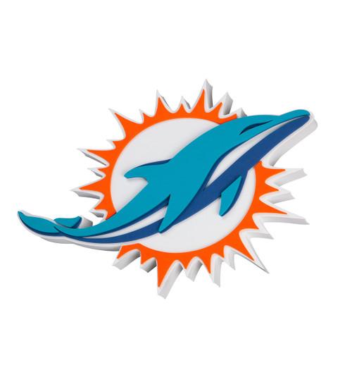 Miami Dolphins EVA Foam 3D NFL Magnet
