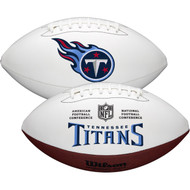 Tennessee Titans Full Size Official NFL Autograph Signature Series White Panel Football by Wilson