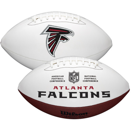 Atlanta Falcons Full Size Official NFL Autograph Signature Series White Panel Football by Wilson