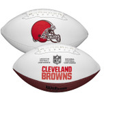 Cleveland Browns Full Size Official NFL Autograph Signature Series White Panel Football by Wilson