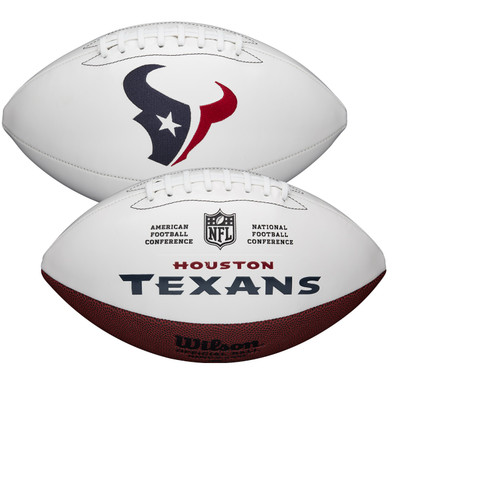 Houston Texans Full Size Official NFL Autograph Signature Series White Panel Football by Wilson