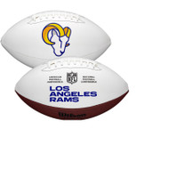 Los Angeles Rams Full Size Official NFL Autograph Signature Series White Panel Football by Wilson