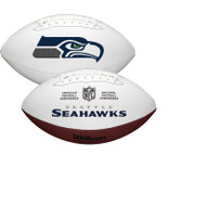 Seattle Seahawks Full Size Official NFL Autograph Signature Series White Panel Football by Wilson