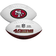 San Francisco 49ers Full Size Official NFL Autograph Signature Series White Panel Football by Wilson