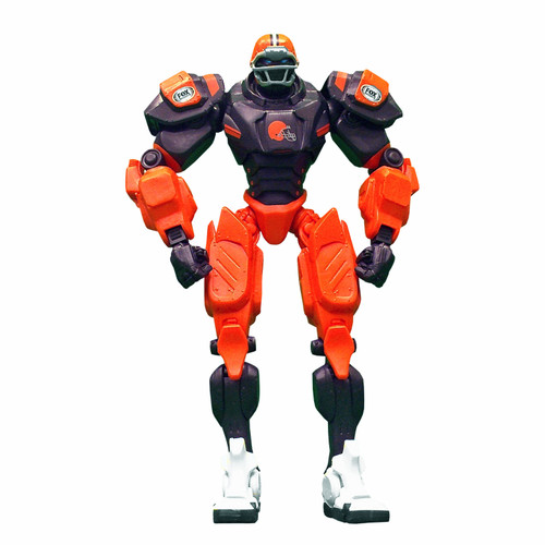 """Cleveland Browns NFL Football Fox Sports Cleatus 10"""" Action Figure Robot"""