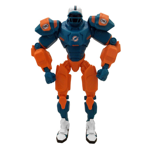 """Miami Dolphins NFL Football Fox Sports Cleatus 10"""" Action Figure Robot"""