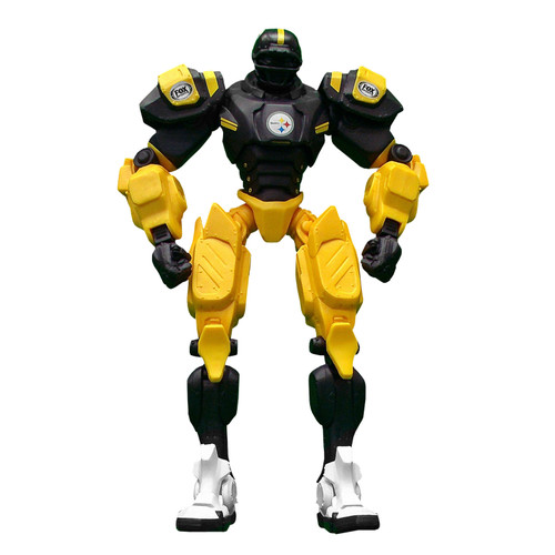 """Pittsburgh Steelers NFL Football Fox Sports Cleatus 10"""" Action Figure Robot"""