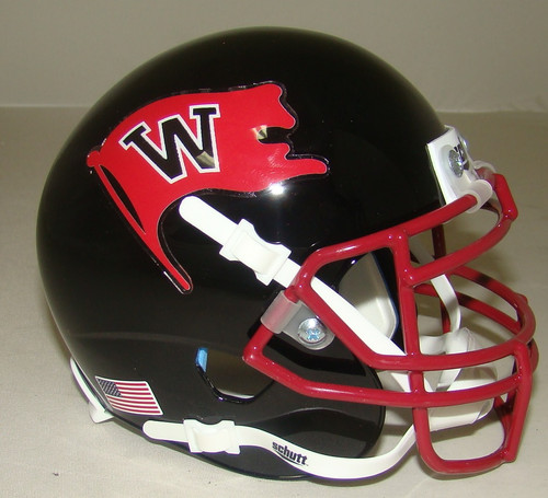 Whitworth Pirates Schutt Mini Authentic Football Helmet
