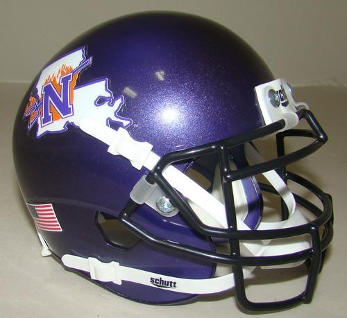 Northwestern State Louisiana Demons Schutt Mini Authentic Football Helmet