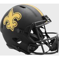 New Orleans Saints 2020 Black Speed Replica Full Size Football Helmet